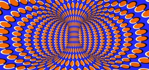 Illusioni ottiche buco nero in movimento