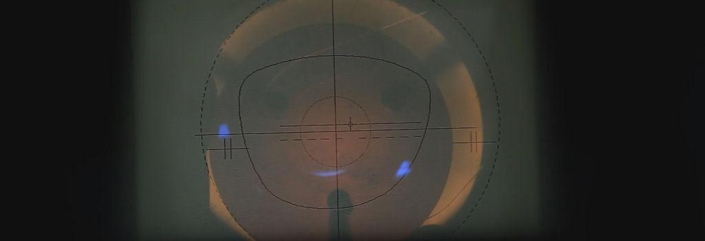 Il centraggio della lente da vista