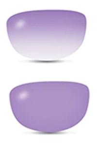 Filtro da sole fotocromatico fashion viola